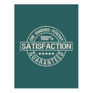 SATISFACTION GUARANTEED custom postcard