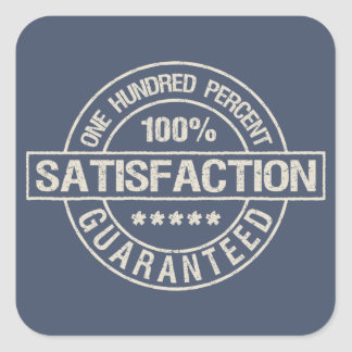 SATISFACTION GUARANTEED stickers
