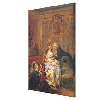 Satisfaction of Marriage or, The Happy Family Canvas Print