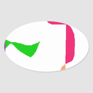 Satisfaction Oval Sticker