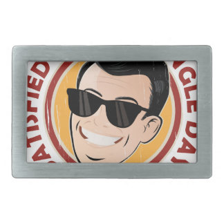Satisfied Staying Single Day - Appreciation Day Belt Buckles