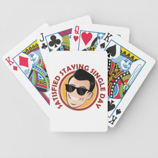 Satisfied Staying Single Day - Appreciation Day Bicycle Playing Cards