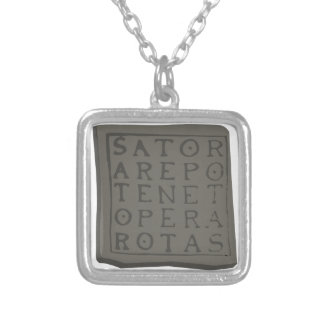 Sator Square Silver Plated Necklace