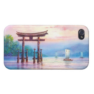 Satta Miyajima Torii and Sailboats japanese art iPhone 4/4S Cover