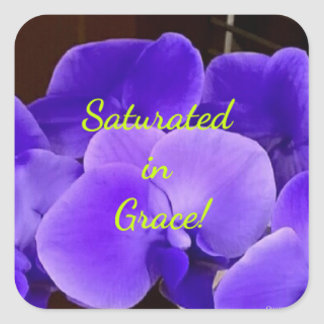 Saturated in Grace Stickers