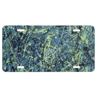 SATURATION (an abstract art design) ~ License Plate