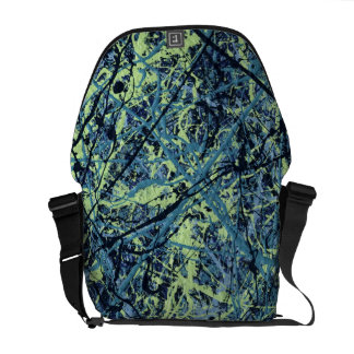 SATURATION (an abstract art design) ~ Courier Bag