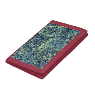 SATURATION (an abstract art design) ~ Trifold Wallet