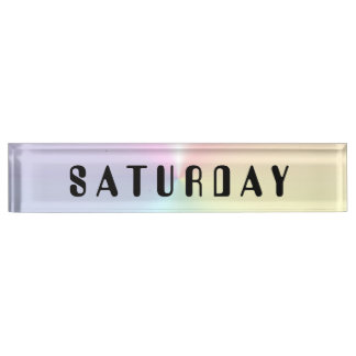 Saturday Amelia Shimmer Desk Nameplate by Janz