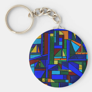Saturday at the sailboat races keychain