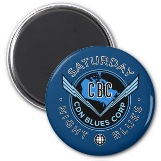 Saturday Night Blues 2 Inch Round Magnet