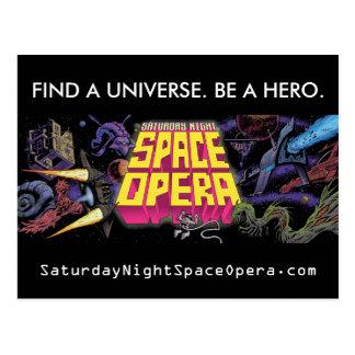 Saturday Night Space Opera Postcard