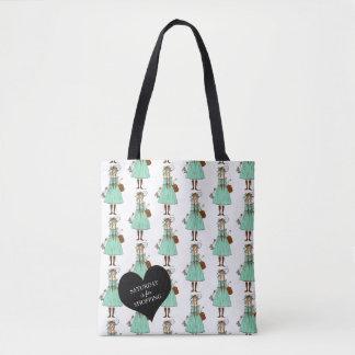 Saturday Shopping Fancy Woman Fashionable Tote Bag