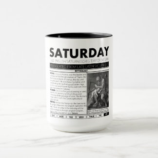 SATURDAY & THE MYTH BEHIND IT:  one of seven cups