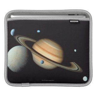 Saturn and satellites iPad sleeve