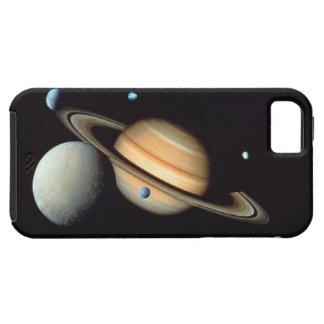 Saturn and satellites iPhone 5 cover