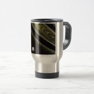 Saturn and Tethys travel mug, 15 oz. Travel Mug