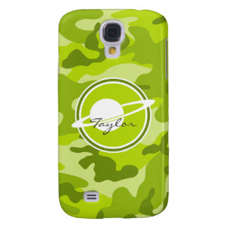 Saturn bright green camo camouflage samsung galaxy s4 cover