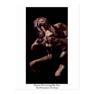 Saturn Devouring His Son By Francisco De Goya Postcard