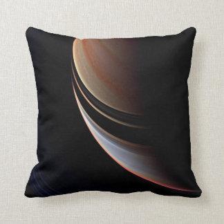 Saturn - False Color Enhancement Throw Pillow
