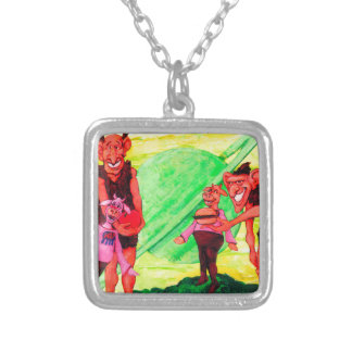 Saturn Giants Silver Plated Necklace
