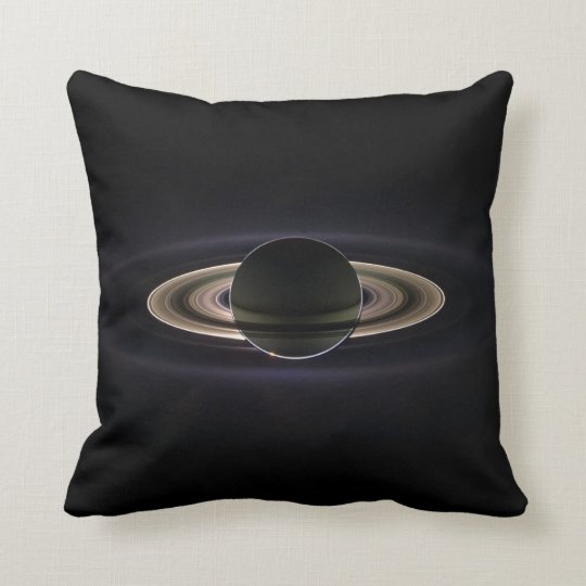 Saturn Image Taken by Cassini Spacecraft Throw Pillow
