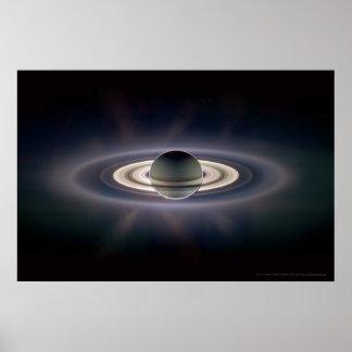 Saturn in Eclipse 18x12 (9x5) Poster