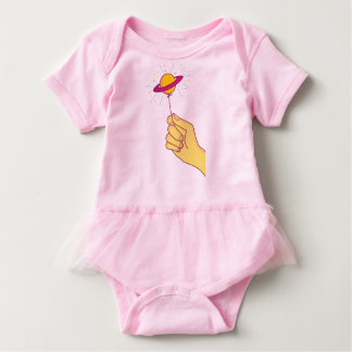 Saturn Lollipop Balloon Baby Bodysuit