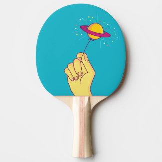 Saturn Lollipop Balloon Ping Pong Paddle