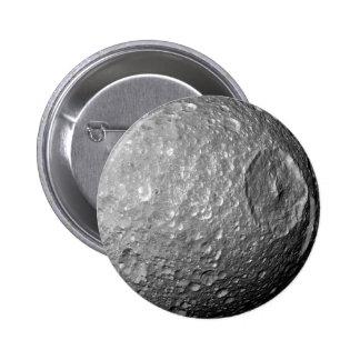 Saturn Moon Mimas 2 Inch Round Button