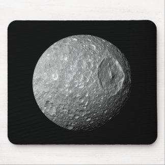 Saturn Moon Mimas Mouse Pad