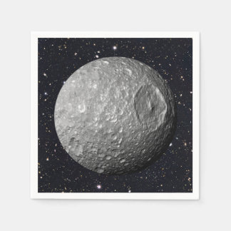 Saturn Moon Mimas Starry Sky Disposable Napkin