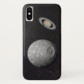 Saturn Moon Mimas Starry Sky iPhone X Case