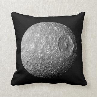 Saturn Moon Mimas Throw Pillow