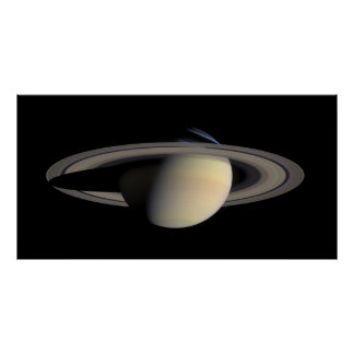 Saturn mosaic from Cassini. Poster