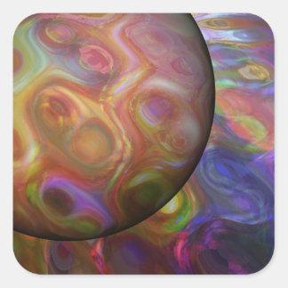 Saturn Rising Square Sticker