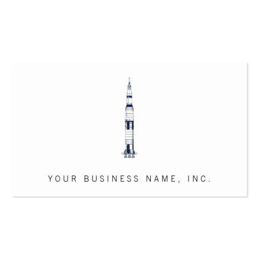 Saturn Rocket Modèle De Carte De Visite