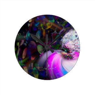 Saturn Round Clock