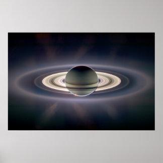 Saturn Solar Eclipse Poster
