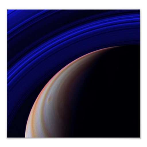 Saturn Space Image Poster