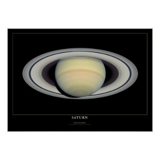 Saturn Space Science Astronomy Poster