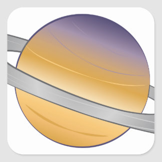 Saturn Square Sticker