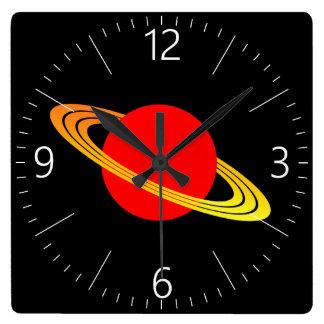 Saturn Square Wall Clock