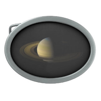 Saturn the Sixth Planet from the Sun Belt Buckle