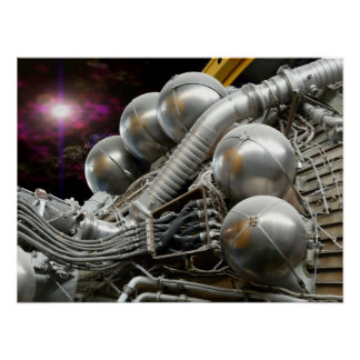 Saturn V Engine poster