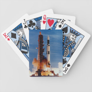 Saturn V Launching The Skylab Space Station Bicycle Playing Cards