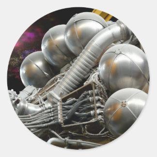 Saturn V Rocket Engine Classic Round Sticker