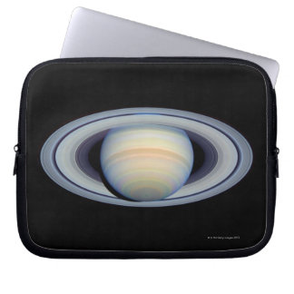 Saturn with rings at widest angle to Earth Laptop Sleeve
