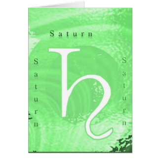 Saturn Zodiac Astrology Design Card