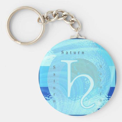 Saturn Zodiac Astrology Design Keychain